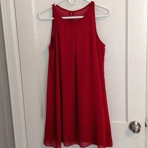 A. BYER red, shift dress. (Medium)